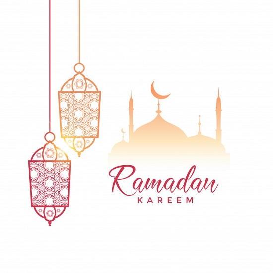 تصميم تهنئة رمضان