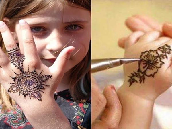 نقش حناء رمضان للاطفال