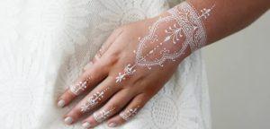 رسومات الحناء البيضاء للعروسة